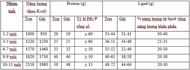 Chế độ dinh dưỡng cho trẻ em học đường - Ảnh 1.