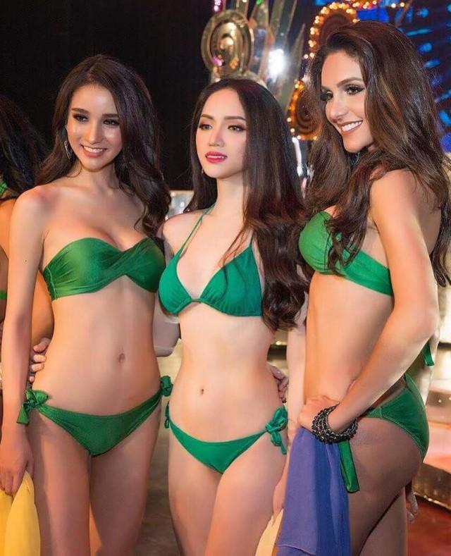 Hương Giang Idol nóng bỏng trong phần thi bikini tại Hoa hậu Chuyển giới Quốc tế - Ảnh 1.