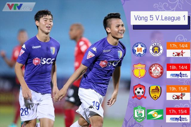 Lịch thi đấu và trực tiếp vòng 5 V.League 2018 - Ảnh 1.