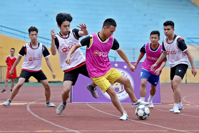 Giải Bóng đá Đường phố SCG được tổ chức ngay trước các trận đấu của CLB Hà Nội tại SVĐ Hàng Đẫy - Ảnh 6.