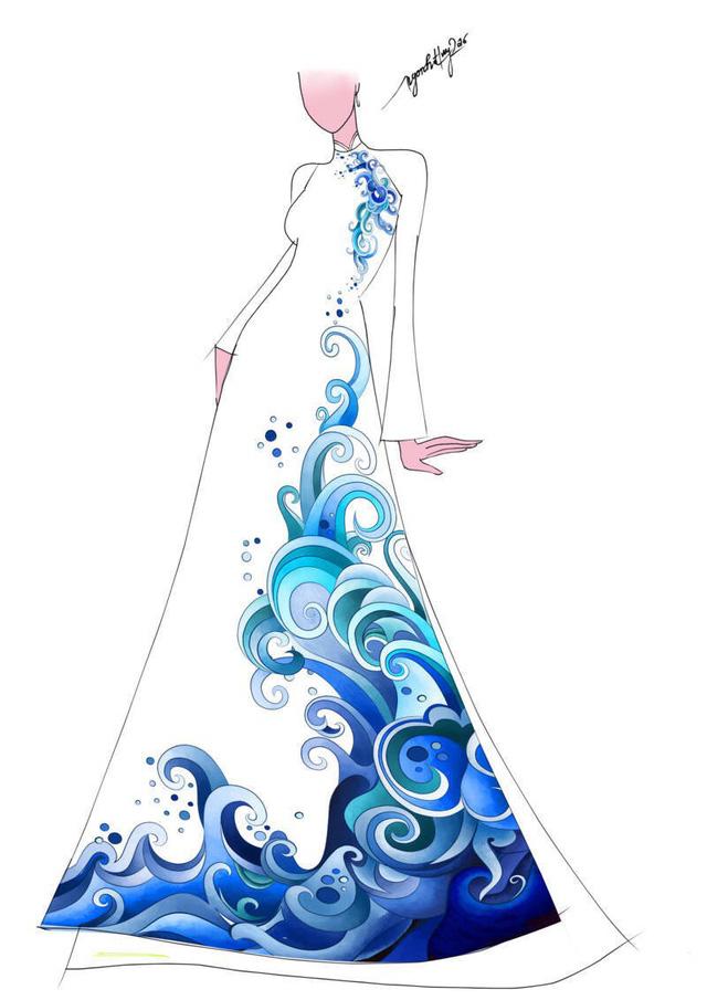 Hé lộ thiết kế áo dài đặc biệt cho chung kết Hoa hậu Biển Việt Nam toàn cầu 2018 - Ảnh 2.