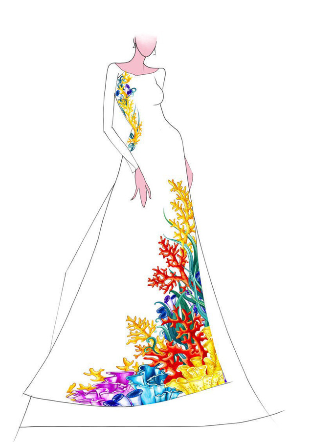 Hé lộ thiết kế áo dài đặc biệt cho chung kết Hoa hậu Biển Việt Nam toàn cầu 2018 - Ảnh 1.