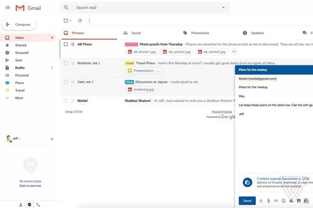 Google chuẩn bị đưa một loạt thay đổi sốc vào thiết kế của Gmail - Ảnh 1.