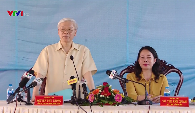 Tổng Bí thư Nguyễn Phú Trọng thăm và làm việc tại tỉnh An Giang - Ảnh 1.