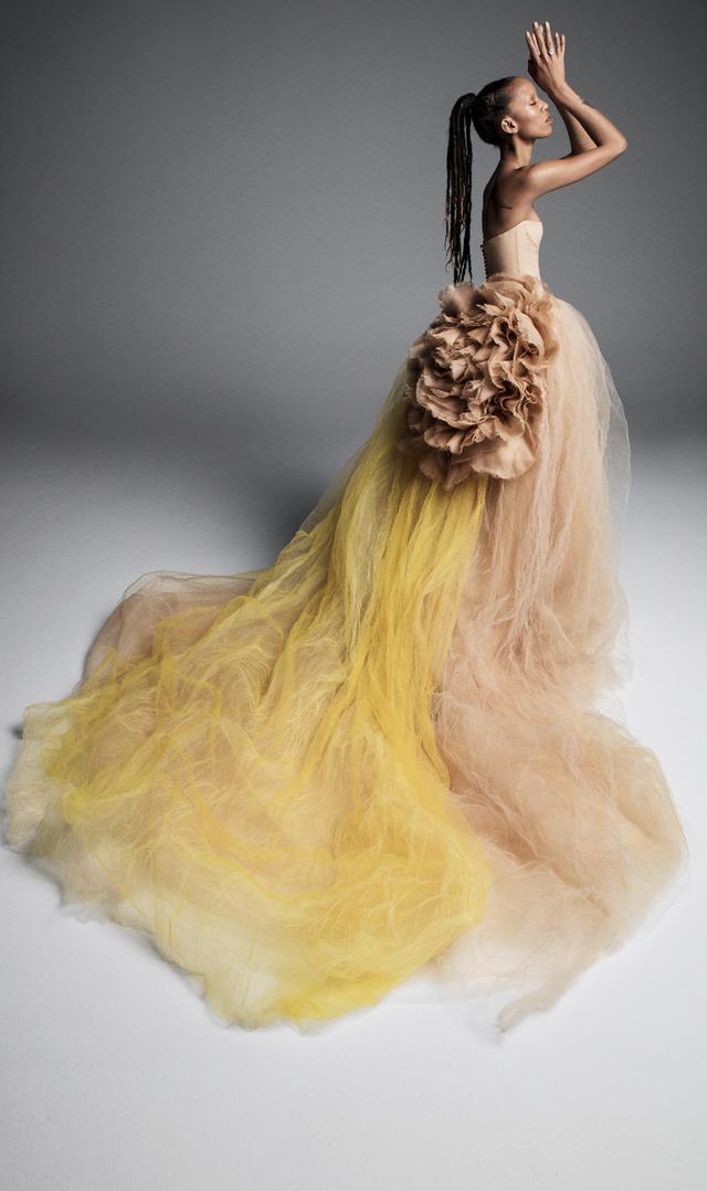 Váy cưới của Vera Wang cho mùa Xuân 2019... mong manh tựa sương khói - Ảnh 9.