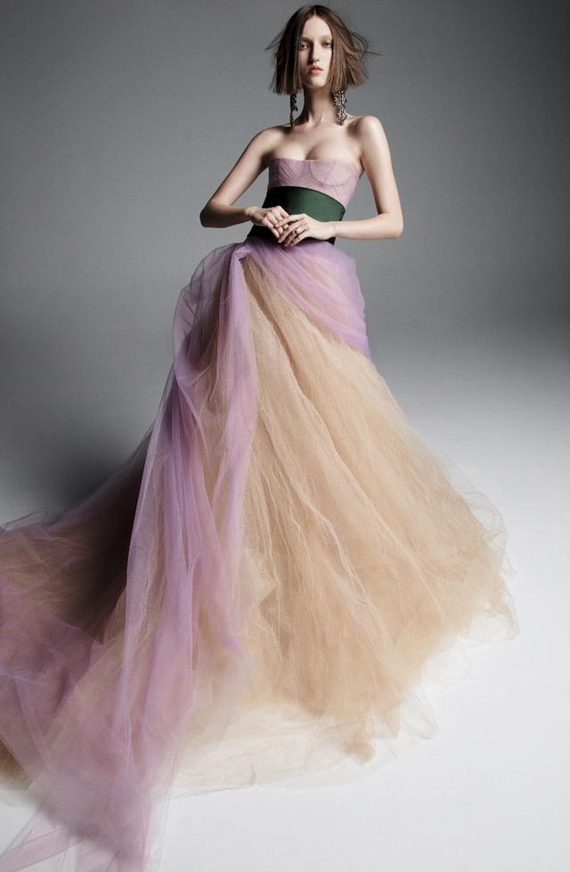 Váy cưới của Vera Wang cho mùa Xuân 2019... mong manh tựa sương khói - Ảnh 4.