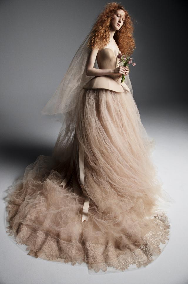 Váy cưới của Vera Wang cho mùa Xuân 2019... mong manh tựa sương khói - Ảnh 2.