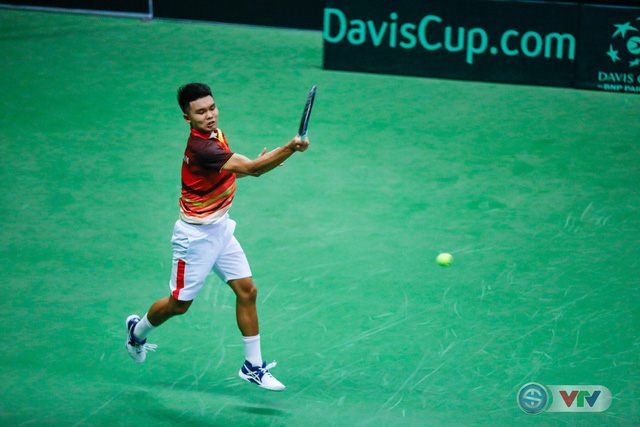 Davis Cup 2018: ĐT Việt Nam giành chiến thắng ngày ra quân - Ảnh 1.