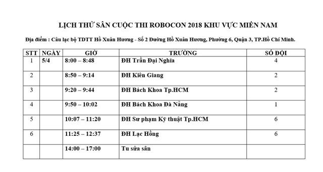Vòng loại Robocon Việt Nam 2018 khu vực phía Nam sẵn sàng khởi tranh - Ảnh 1.