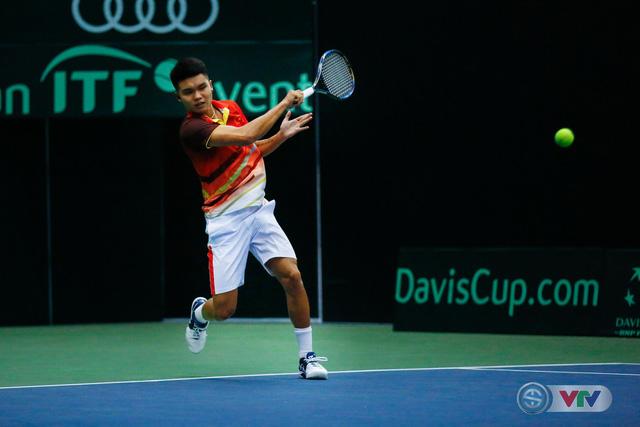 ẢNH: Lý Hoàng Nam ra quân thắng lợi tại Davis Cup - Ảnh 1.