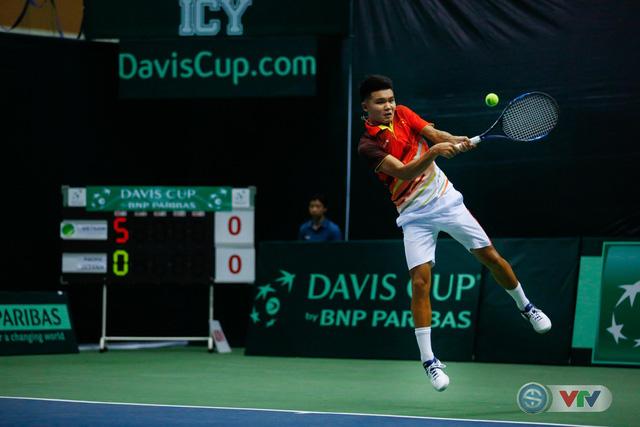 ẢNH: Lý Hoàng Nam ra quân thắng lợi tại Davis Cup - Ảnh 2.