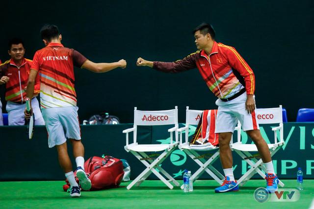 ẢNH: Thắng Qatar, ĐT quần vợt Việt Nam trở lại nhóm II Davis Cup - Ảnh 3.