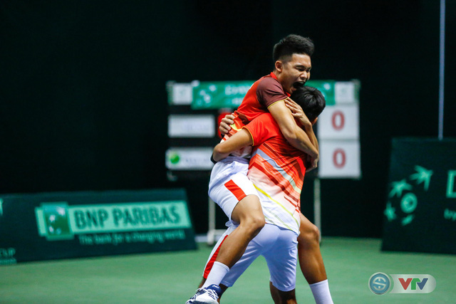ẢNH: Thắng Qatar, ĐT quần vợt Việt Nam trở lại nhóm II Davis Cup - Ảnh 17.
