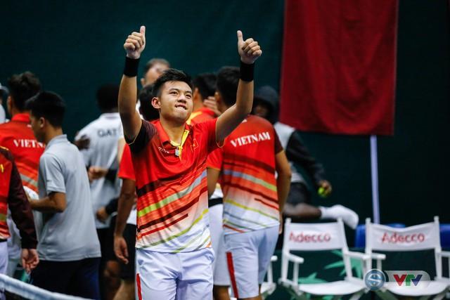 ẢNH: Thắng Qatar, ĐT quần vợt Việt Nam trở lại nhóm II Davis Cup - Ảnh 18.