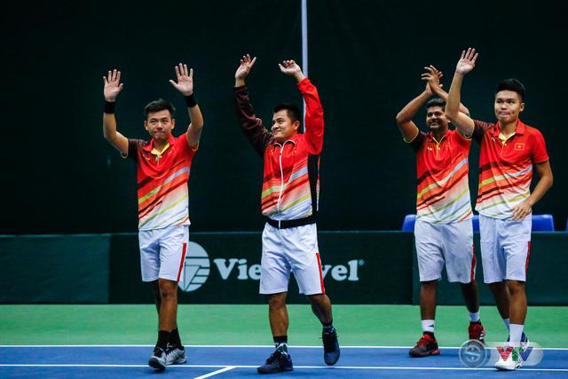 ẢNH: Thắng Qatar, ĐT quần vợt Việt Nam trở lại nhóm II Davis Cup - Ảnh 19.
