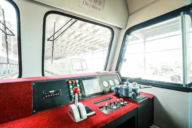 Hình ảnh chạy thử tàu trên tuyến đường sắt trên cao Cát Linh - Hà Đông  - Ảnh 4.