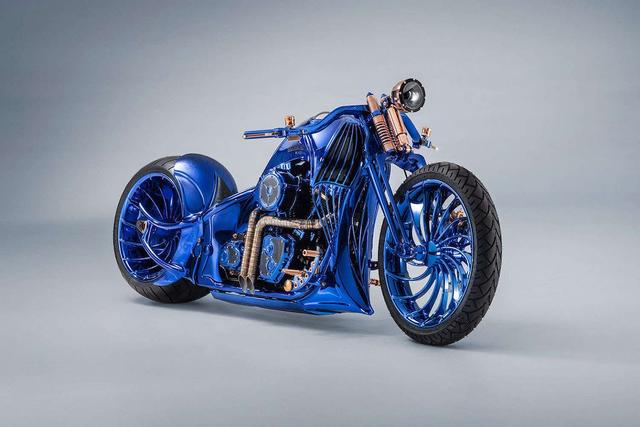 Ngắm chiếc Harley Davidson mạ vàng và kim cương đắt giá nhất thế giới - Ảnh 1.