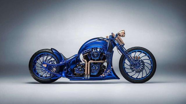 Ngắm chiếc Harley Davidson mạ vàng và kim cương đắt giá nhất thế giới - Ảnh 2.