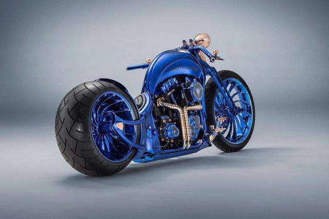 Ngắm chiếc Harley Davidson mạ vàng và kim cương đắt giá nhất thế giới - Ảnh 3.