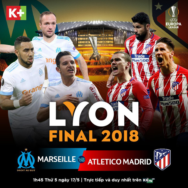 K+ phát sóng độc quyền trận chung kết Europa League - Ảnh 1.