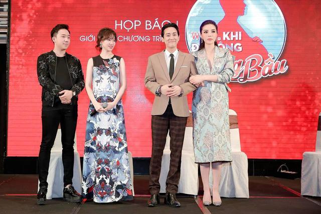 Trấn Thành - Hari Won vác bụng bầu ra mắt show Khi đàn ông mang bầu - Ảnh 2.