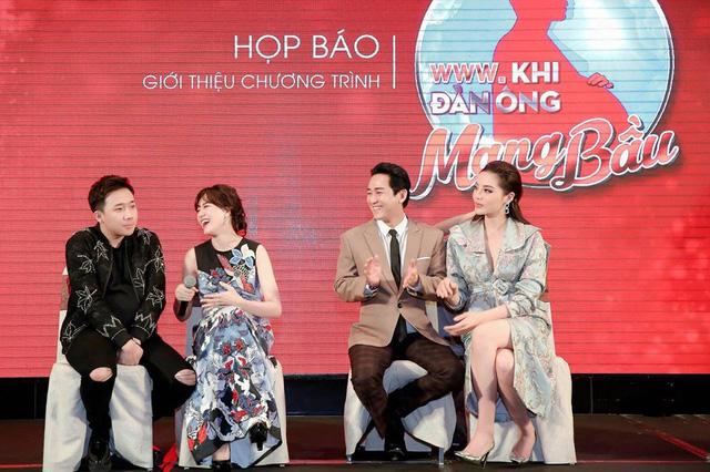 Trấn Thành - Hari Won vác bụng bầu ra mắt show Khi đàn ông mang bầu - Ảnh 4.