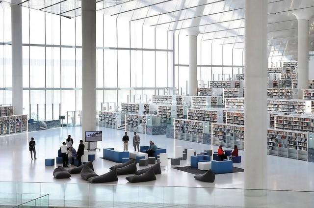 Qatar mở thư viện quốc gia khổng lồ tại Doha - Ảnh 1.