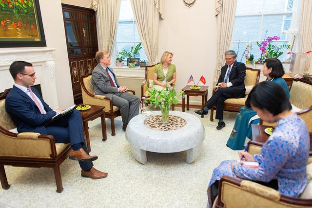 Đại sứ Việt Nam tại Hoa Kỳ tiếp tân đối ngoại chuẩn bị kết thúc nhiệm kỳ - Ảnh 4.