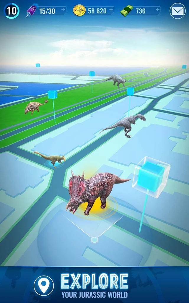 """Jurassic World Alive - Game Pokémon GO phiên bản """"khủng long"""" cập bến nền tảng Android - Ảnh 5."""
