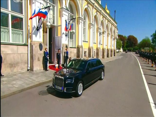 VIDEO Siêu xe của Nga lần đầu tiên được Tổng thống Putin sử dụng cho lễ nhậm chức - Ảnh 1.