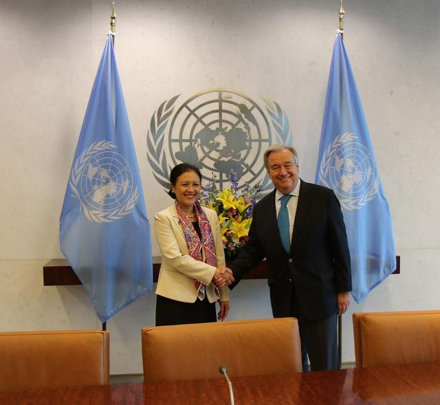 Đại sứ Nguyễn Phương Nga gặp Tổng Thư ký Liên Hợp Quốc chào từ biệt - Ảnh 1.