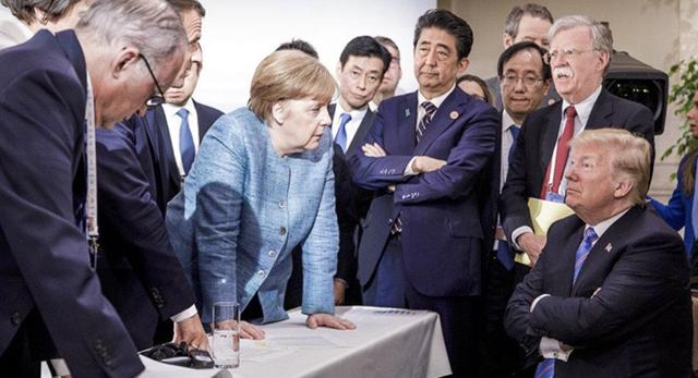 Tổng thống Mỹ đăng ảnh bác bỏ việc bất hòa với các lãnh đạo G7 - Ảnh 1.