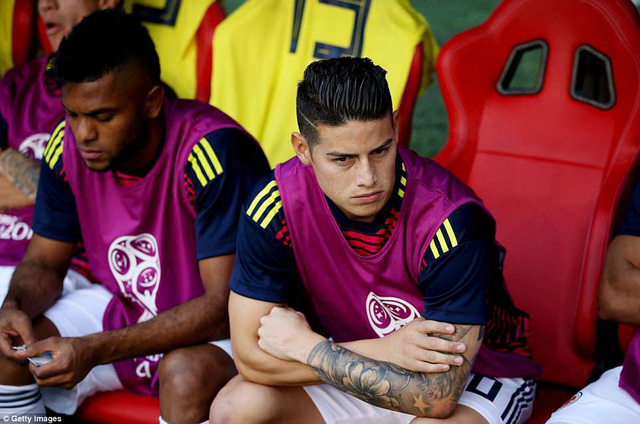 FIFA World Cup™ 2018, ĐT Colombia 1-2 ĐT Nhật Bản: Vì sao mãi tới phút 57 James Rodriguez mới vào sân? - Ảnh 1.