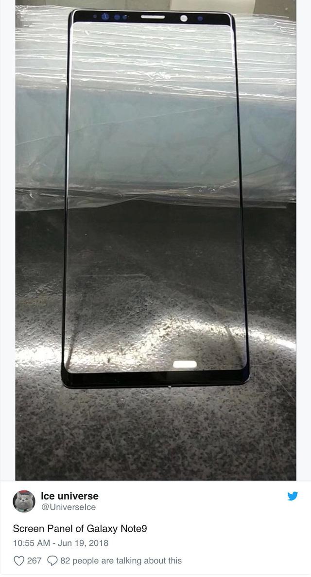 Rò rỉ thiết kế mặt trước của Galaxy Note 9 - Ảnh 1.