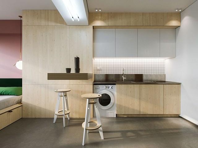 Căn hộ 23 m2 thiết kế theo phong cách tối giản - Ảnh 1.