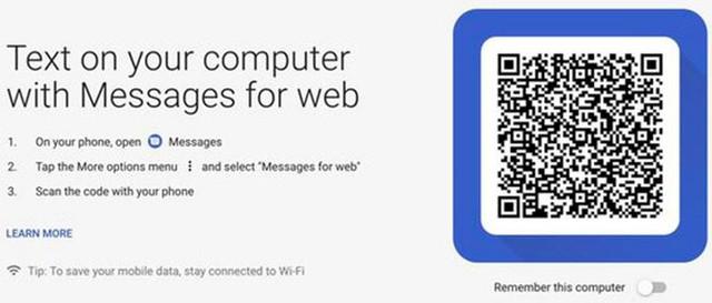 Mẹo sử dụng Android Messages trên web - Ảnh 1.