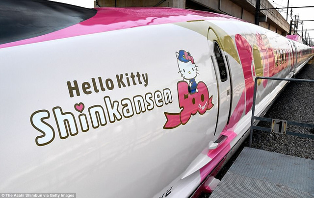 Khai trương đoàn tàu Hello Kitty tại Nhật Bản - Ảnh 8.