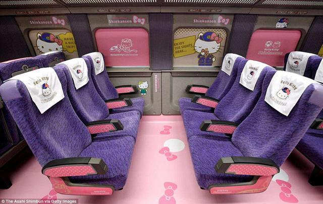 Khai trương đoàn tàu Hello Kitty tại Nhật Bản - Ảnh 7.