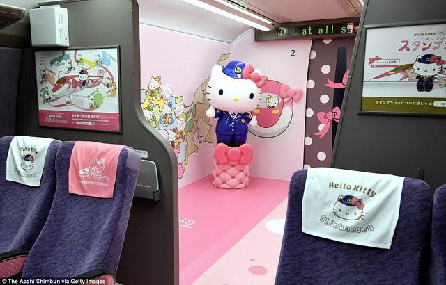 Khai trương đoàn tàu Hello Kitty tại Nhật Bản - Ảnh 5.
