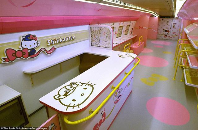 Khai trương đoàn tàu Hello Kitty tại Nhật Bản - Ảnh 6.