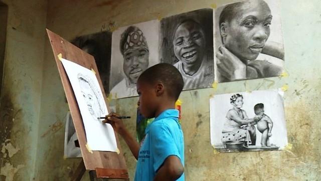 Tài năng của họa sĩ nhí 11 tuổi ở Nigeria - Ảnh 4.