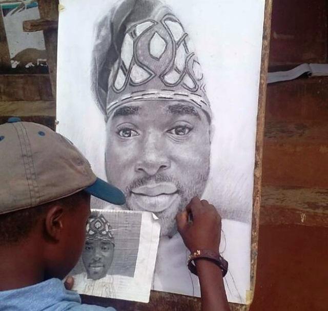 Tài năng của họa sĩ nhí 11 tuổi ở Nigeria - Ảnh 2.