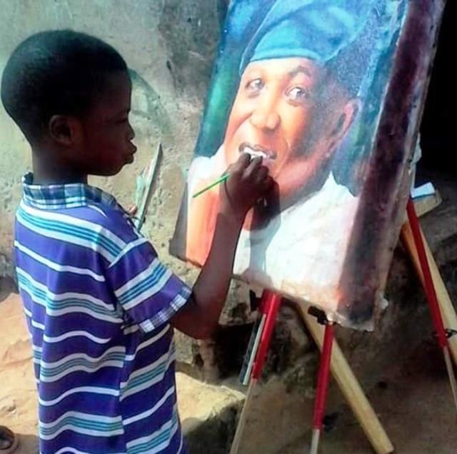 Tài năng của họa sĩ nhí 11 tuổi ở Nigeria - Ảnh 1.