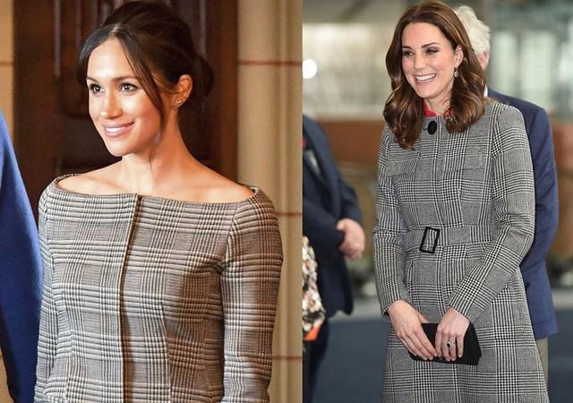 """Kate Middleton và Meghan Markle """"đụng hàng"""" trang phục: Ai đẹp hơn ai? - Ảnh 3."""