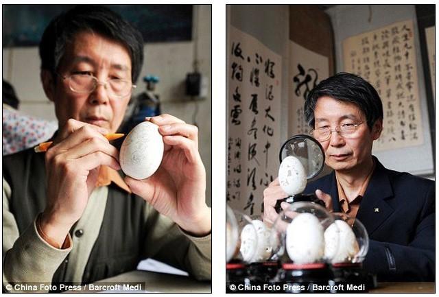 Biến vỏ trứng thành tác phẩm điêu khắc tinh xảo - Ảnh 2.