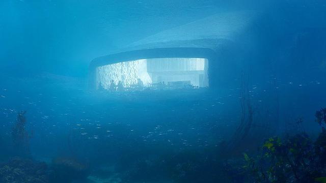 Độc đáo nhà hàng dưới biển đầu tiên tại châu Âu - Ảnh 2.