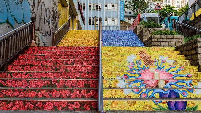 Con phố nghệ thuật ở Hong Kong (Trung Quốc) - Ảnh 1.