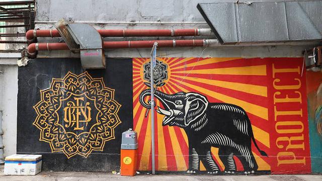 Con phố nghệ thuật ở Hong Kong (Trung Quốc) - Ảnh 2.