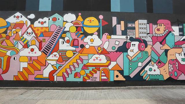 Con phố nghệ thuật ở Hong Kong (Trung Quốc) - Ảnh 4.