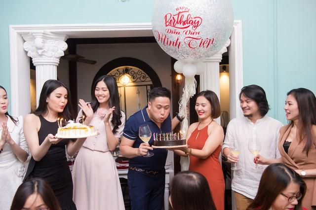 Diễn viên Minh Tiệp đón sinh nhật bất ngờ bên Á hậu Diệu Thùy - Ảnh 1.